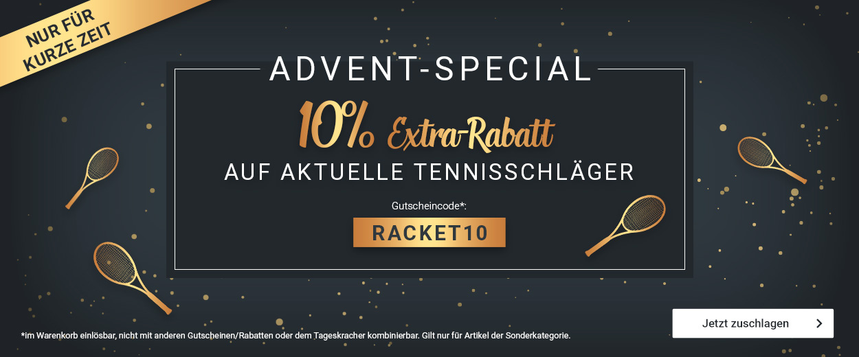 Rackets -10%