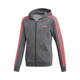 Essentials 3-Stripes Full-Zip Hoodie Girls