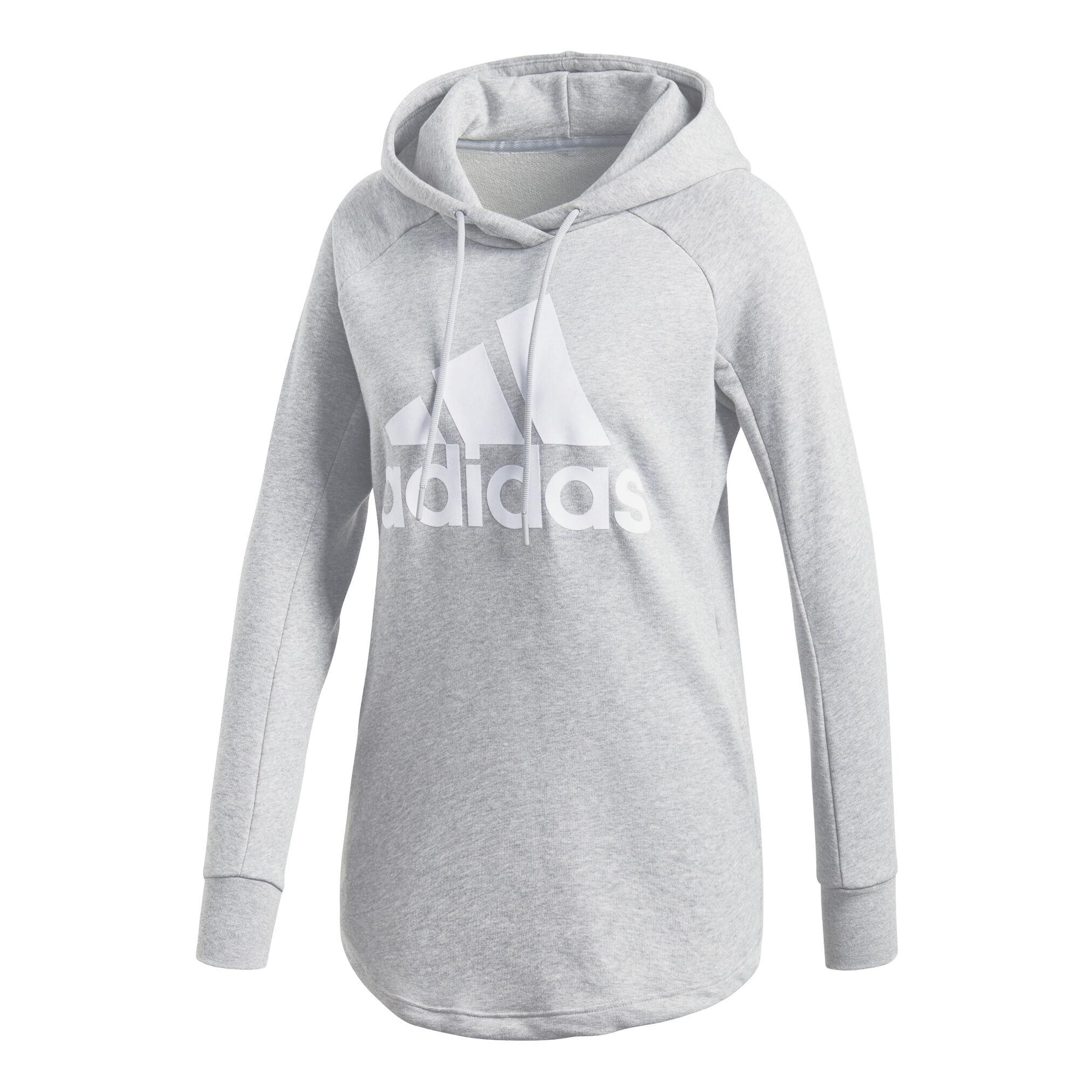 adidas Sport ID Overhead Hoody Damen Hellgrau, Weiß online