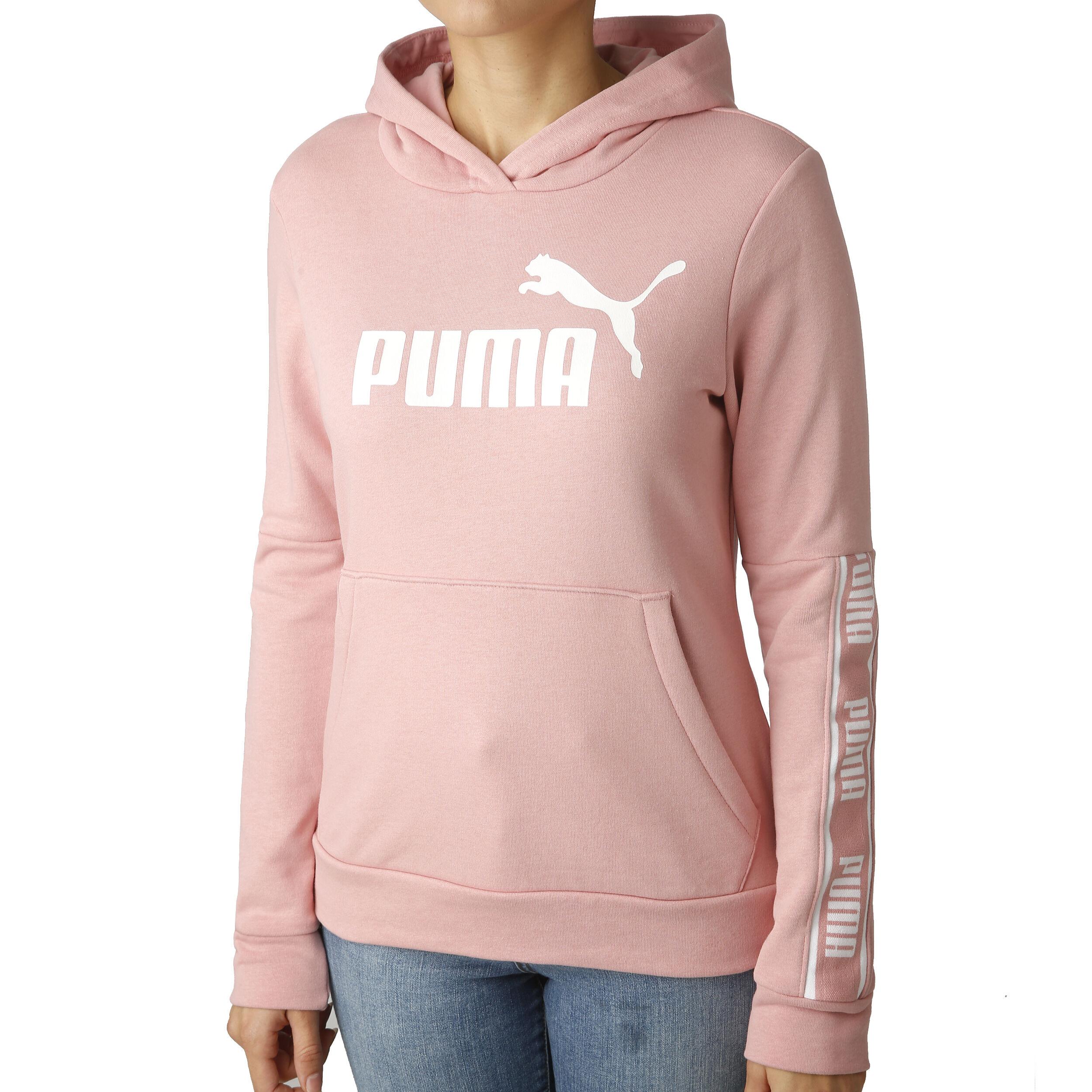 Puma Amplified Hoody Damen Rosa, Weiß online kaufen
