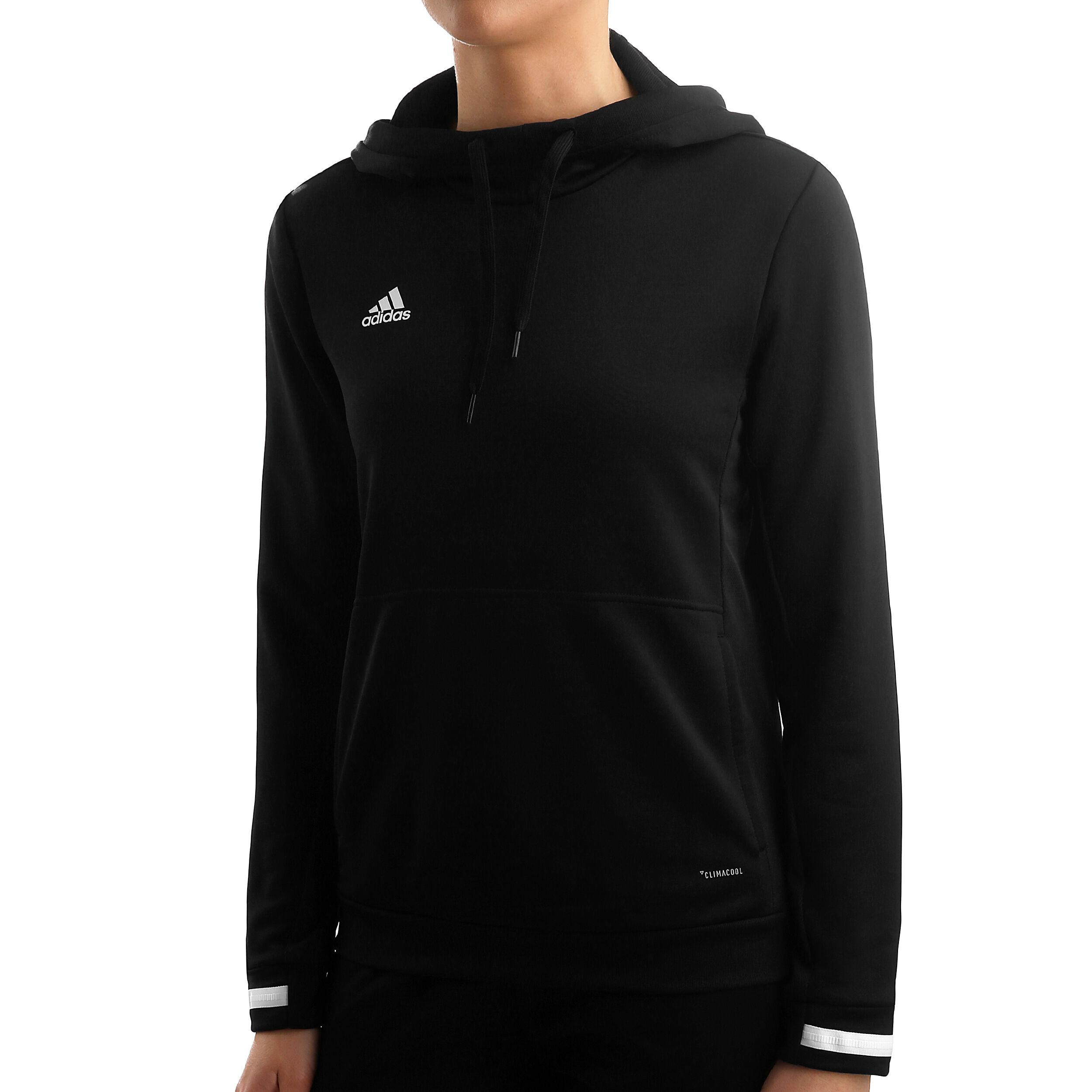 Adidas T19 Hoodie Damen Schwarz Kapuzenpullover