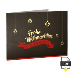 Weihnachtsgutschein 80 EUR
