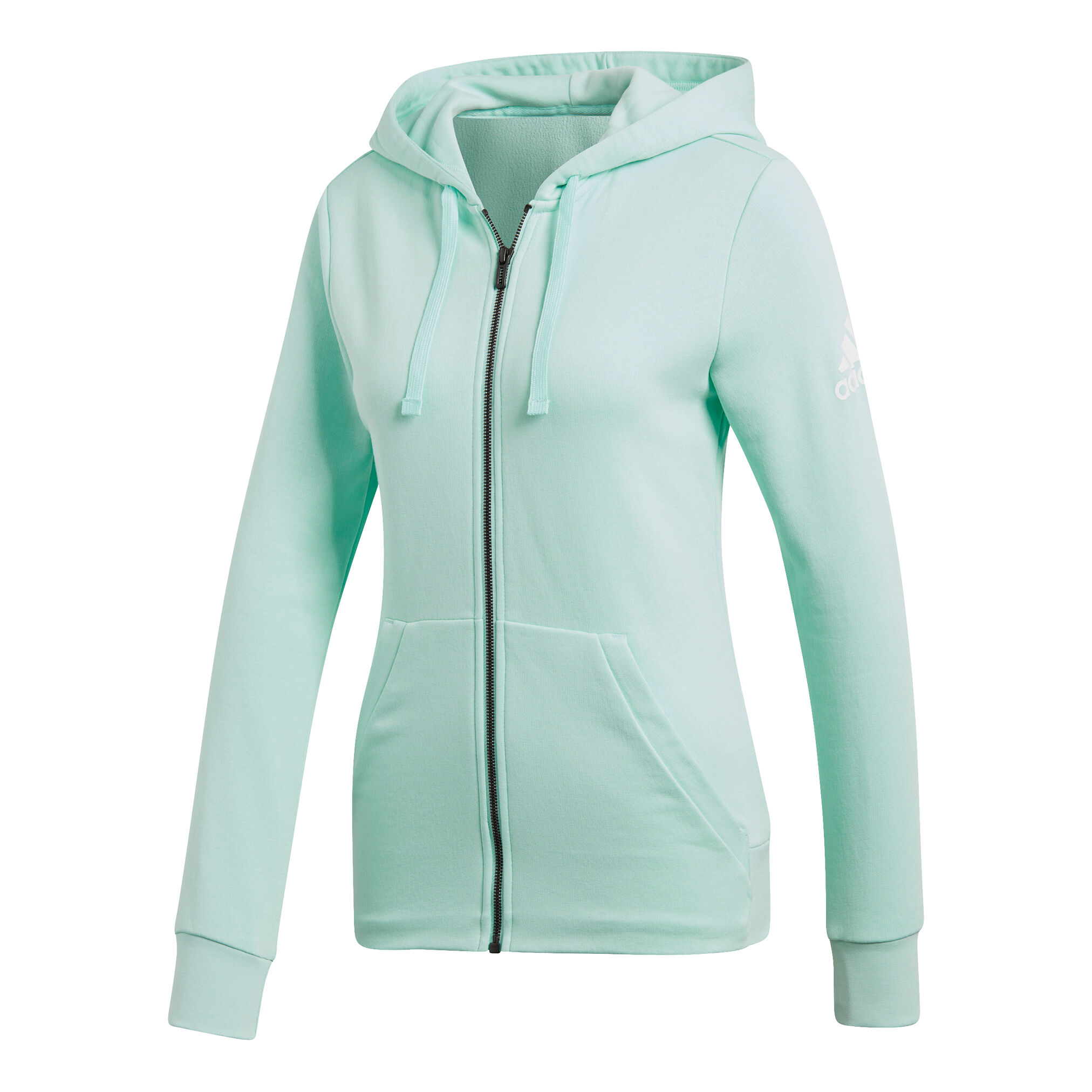 adidas Essentials Solid Full Zip Sweatjacke Damen Mint