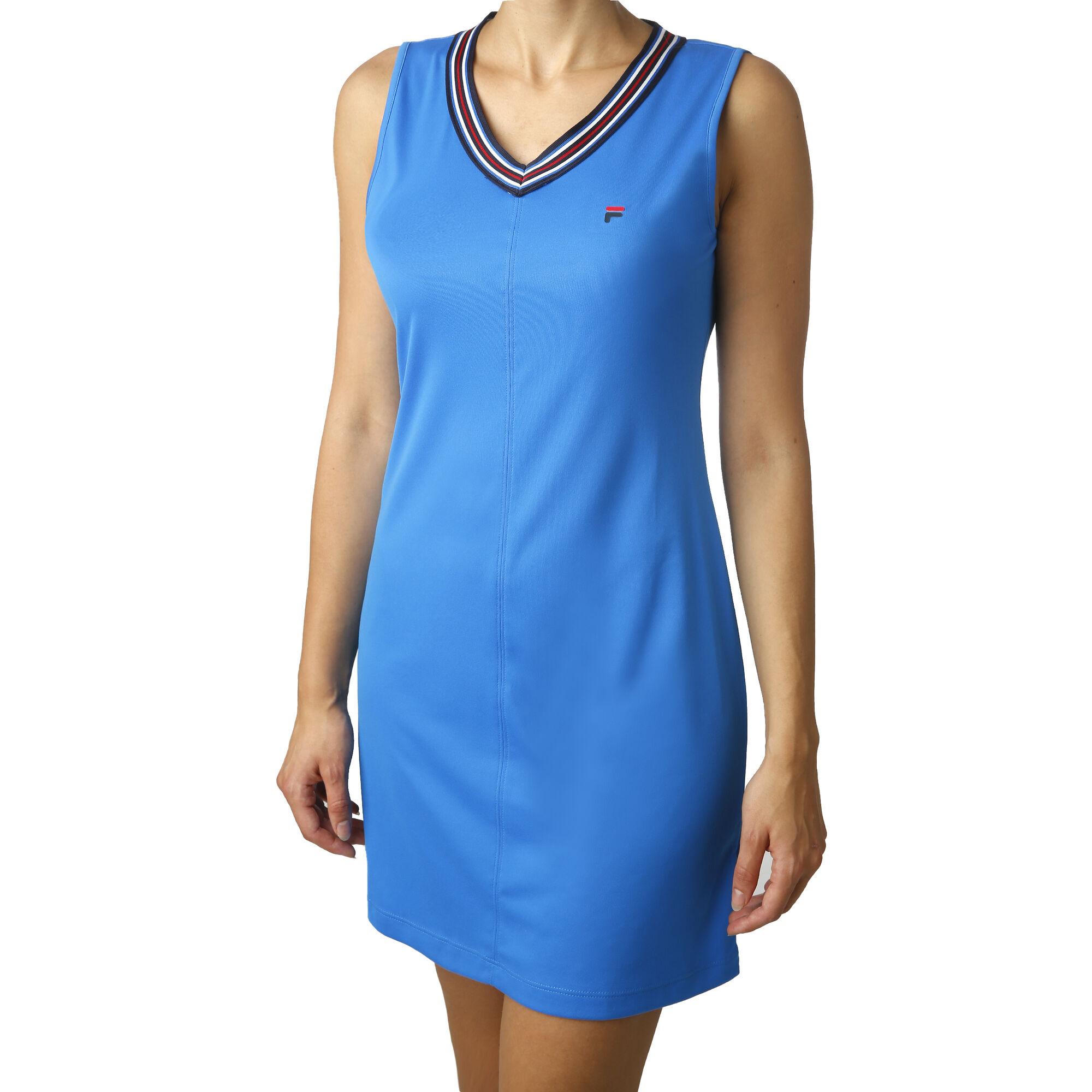 Fila Fancy Kleid Damen - Hellblau, Weiß online kaufen ...