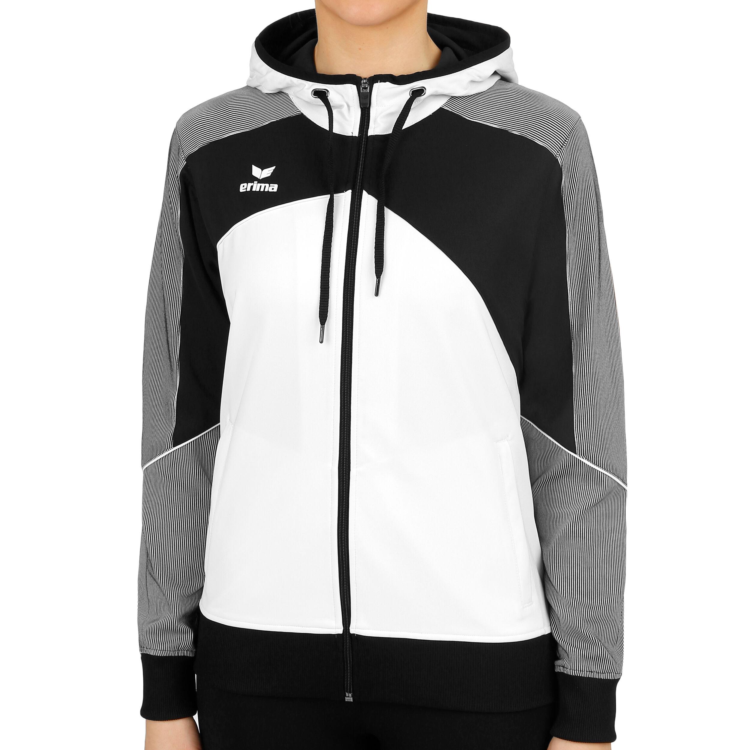 Erima Premium One 2.0 Trainingsjacke Damen Weiß, Schwarz