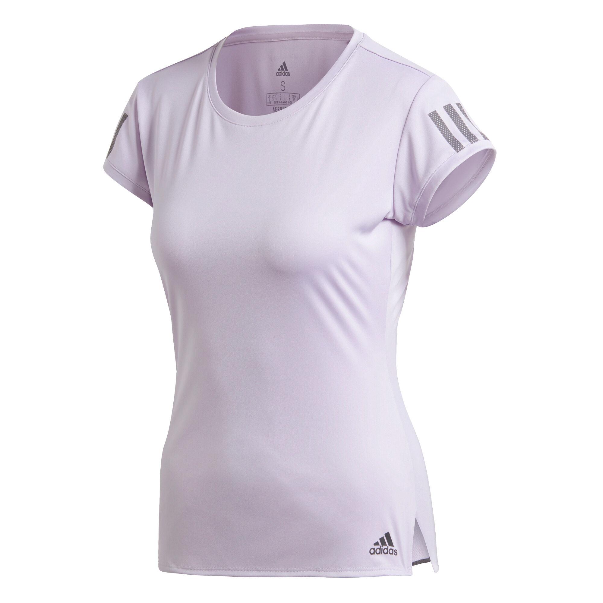 adidas Club 3 Stripes T Shirt Damen Flieder, Grau online