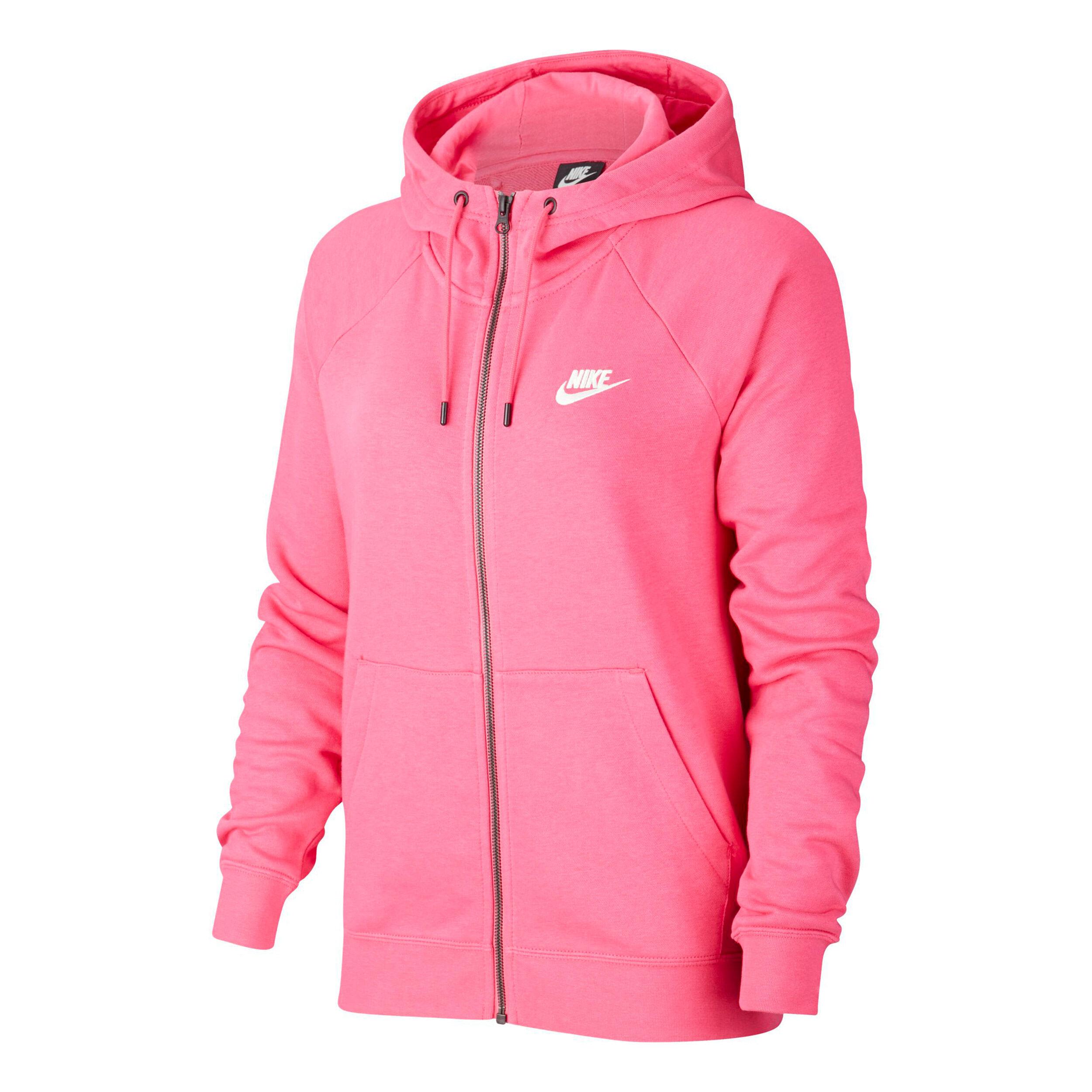 Sportswear Essential Full Zip Sweatjacke Damen Pink, Weiß
