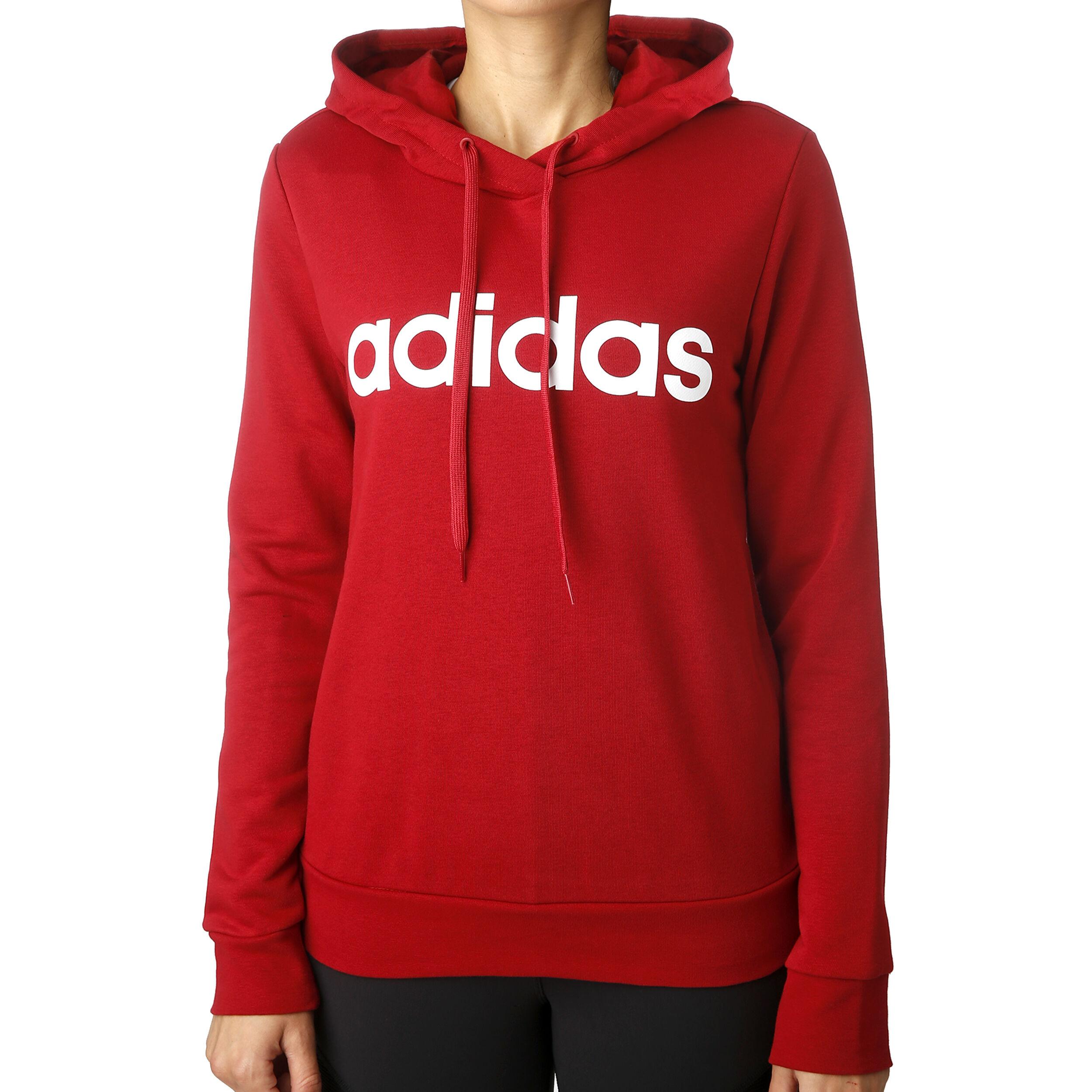 adidas Damen Essentials Linear Open Hem Hooded Kapuzen Sweatshirt