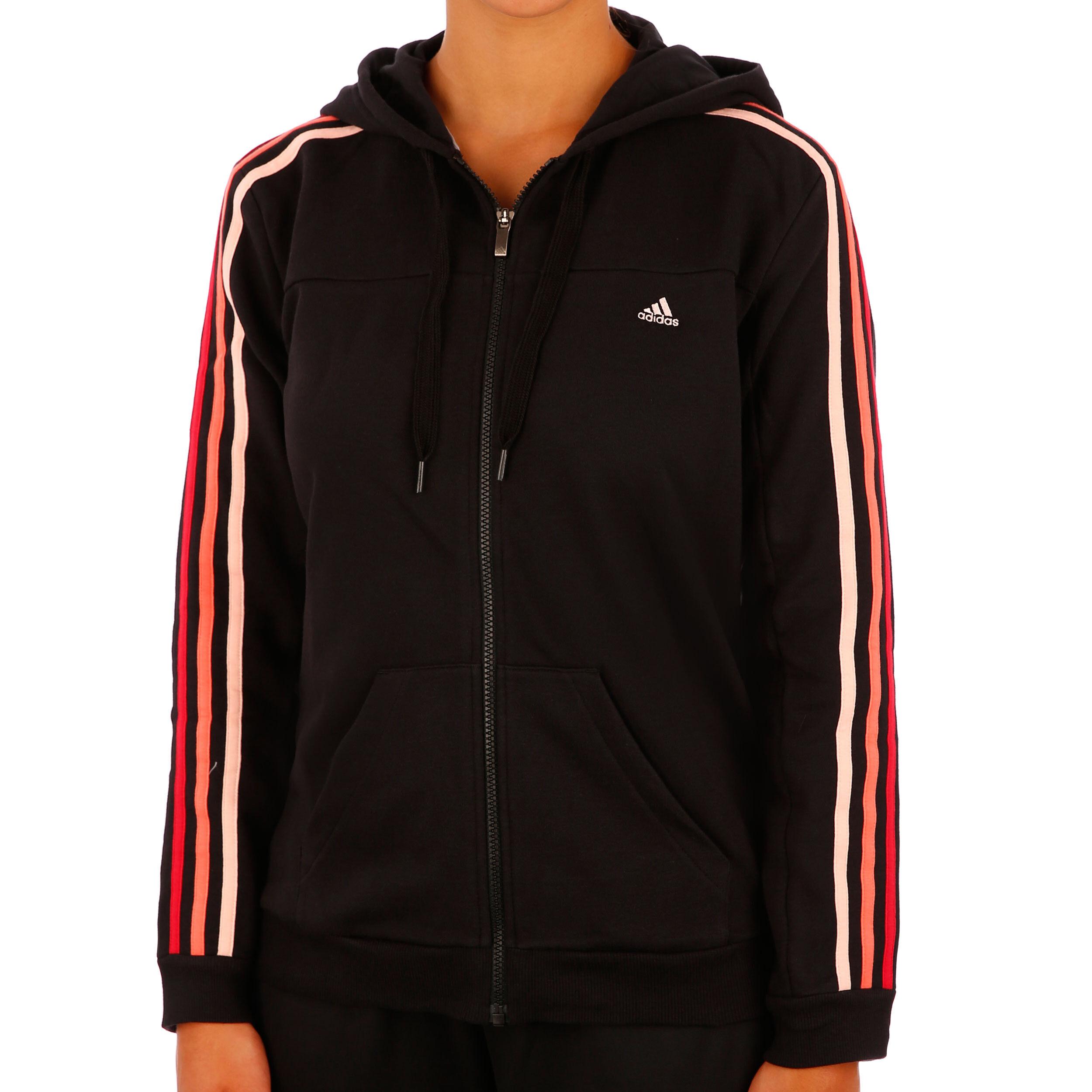 adidas Essentials 3Stripes Hooded Tracktop Trainingsjacke ...