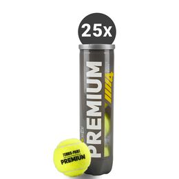 25x Premium Tennisball 4er
