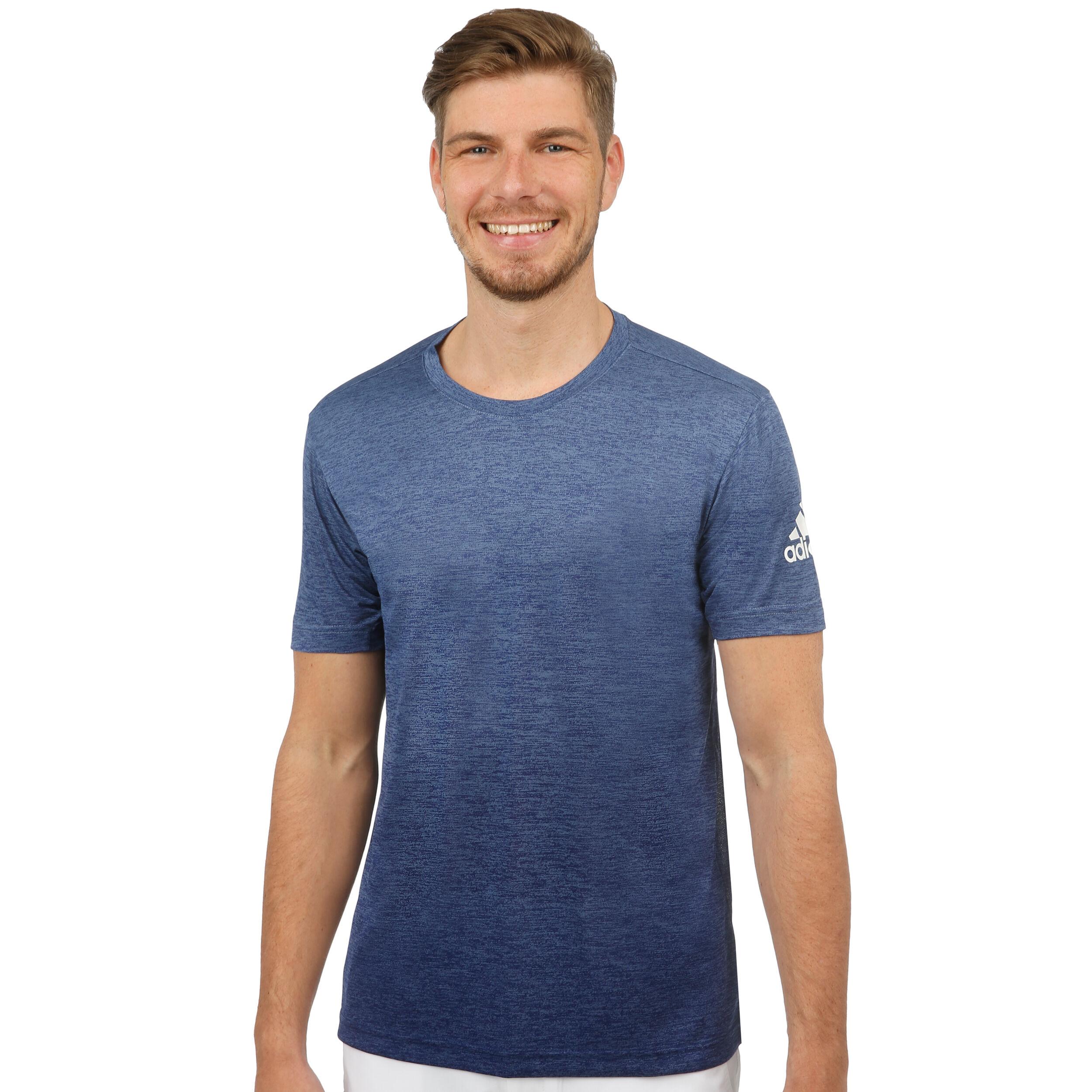 adidas FreeLift Gradi T Shirt Herren Dunkelblau, Blau