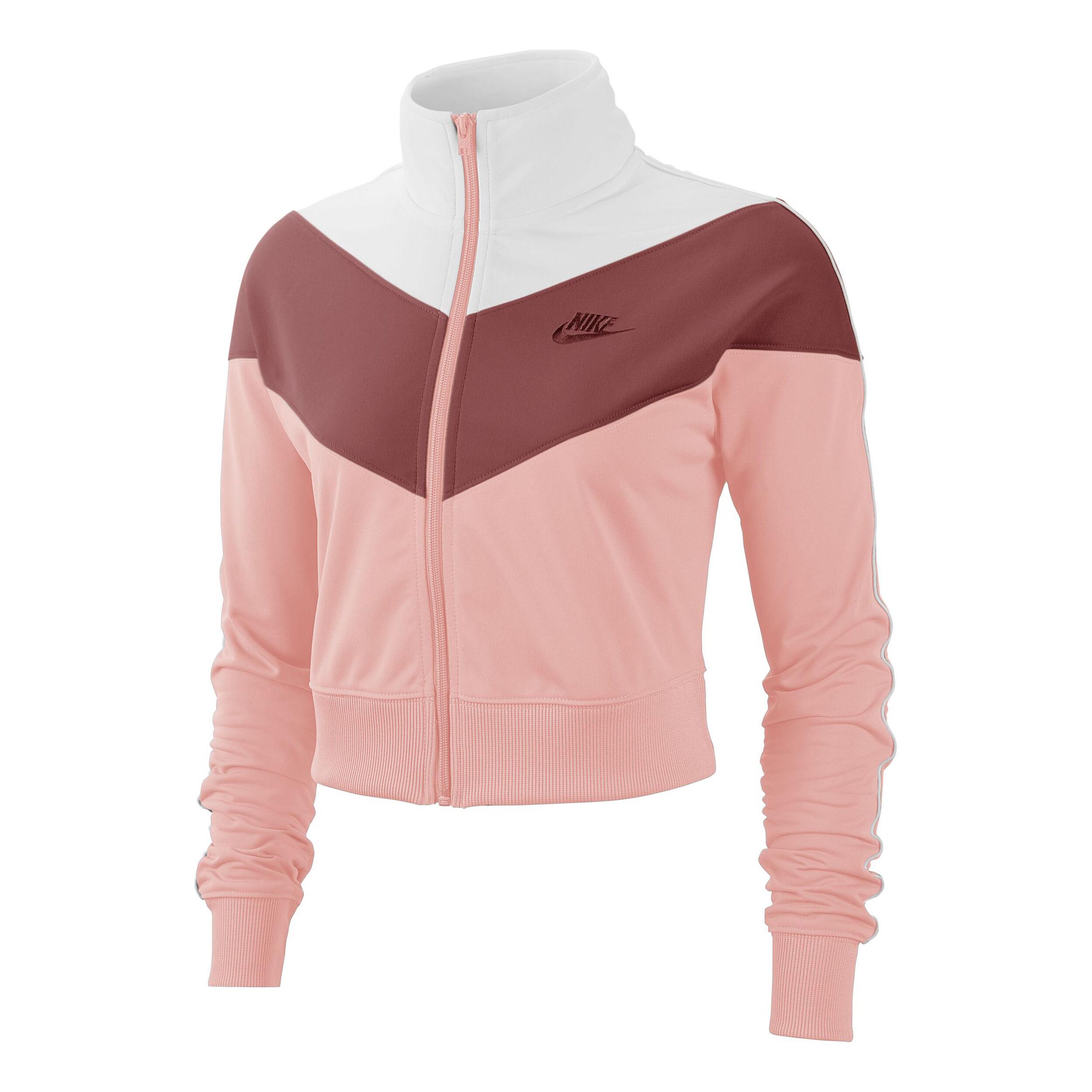Sportswear Heritage Trainingsjacke Damen Rosa, Dunkelrot