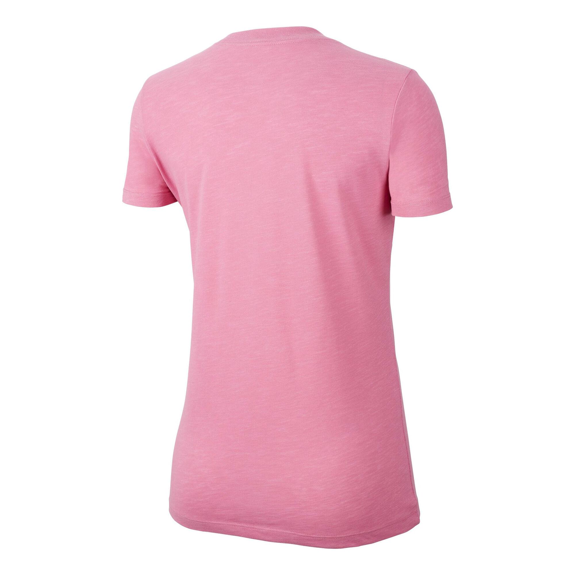 nike dry t-shirt damen - rosa, weiß online kaufen   tennis