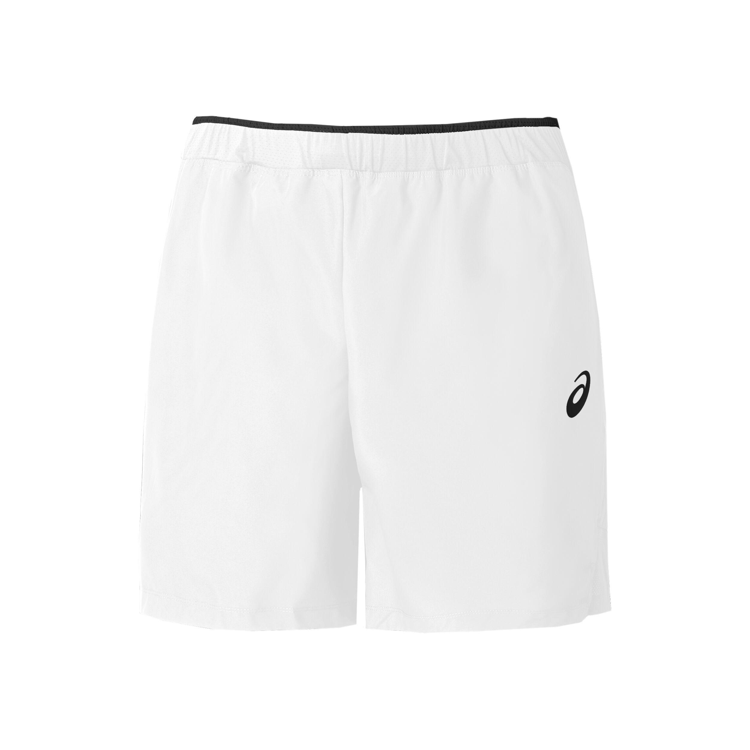 7in Shorts Herren Weiß, Schwarz