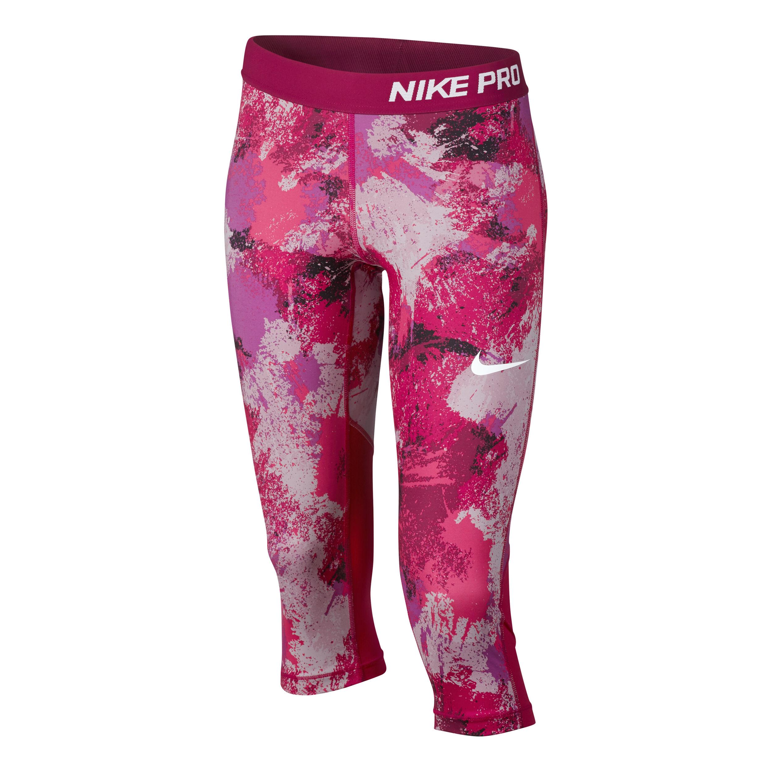 Nike Pro Cool Capri Hose Mädchen Pink, Lila