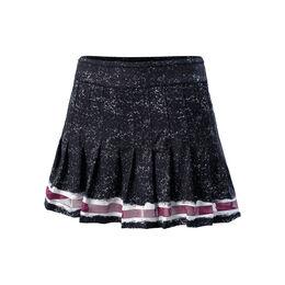 Long Kinetic Stripe Pleated Skirt