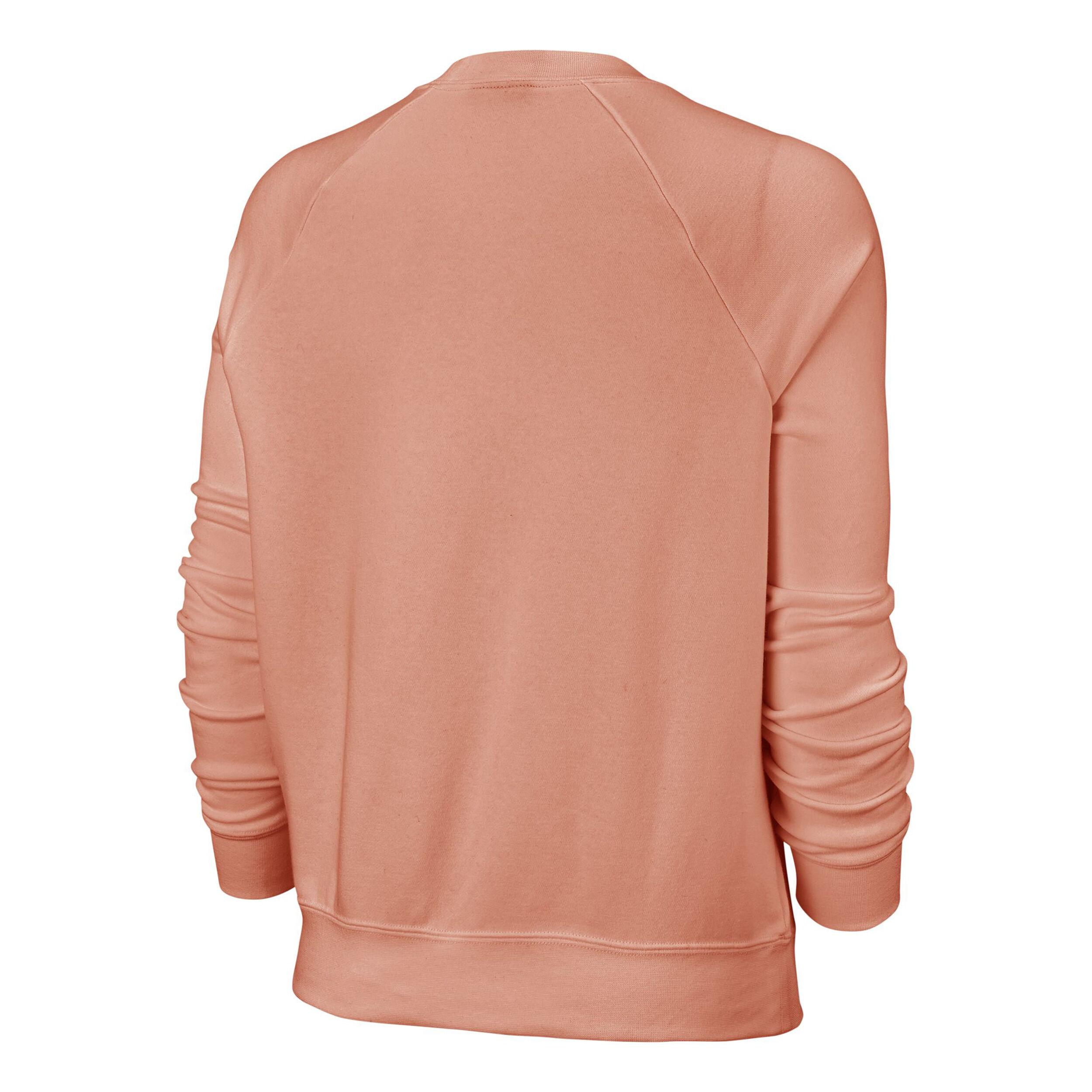 Nike Sportswear Essential Fleece Crew Sweatshirt Damen Apricot, Weiß