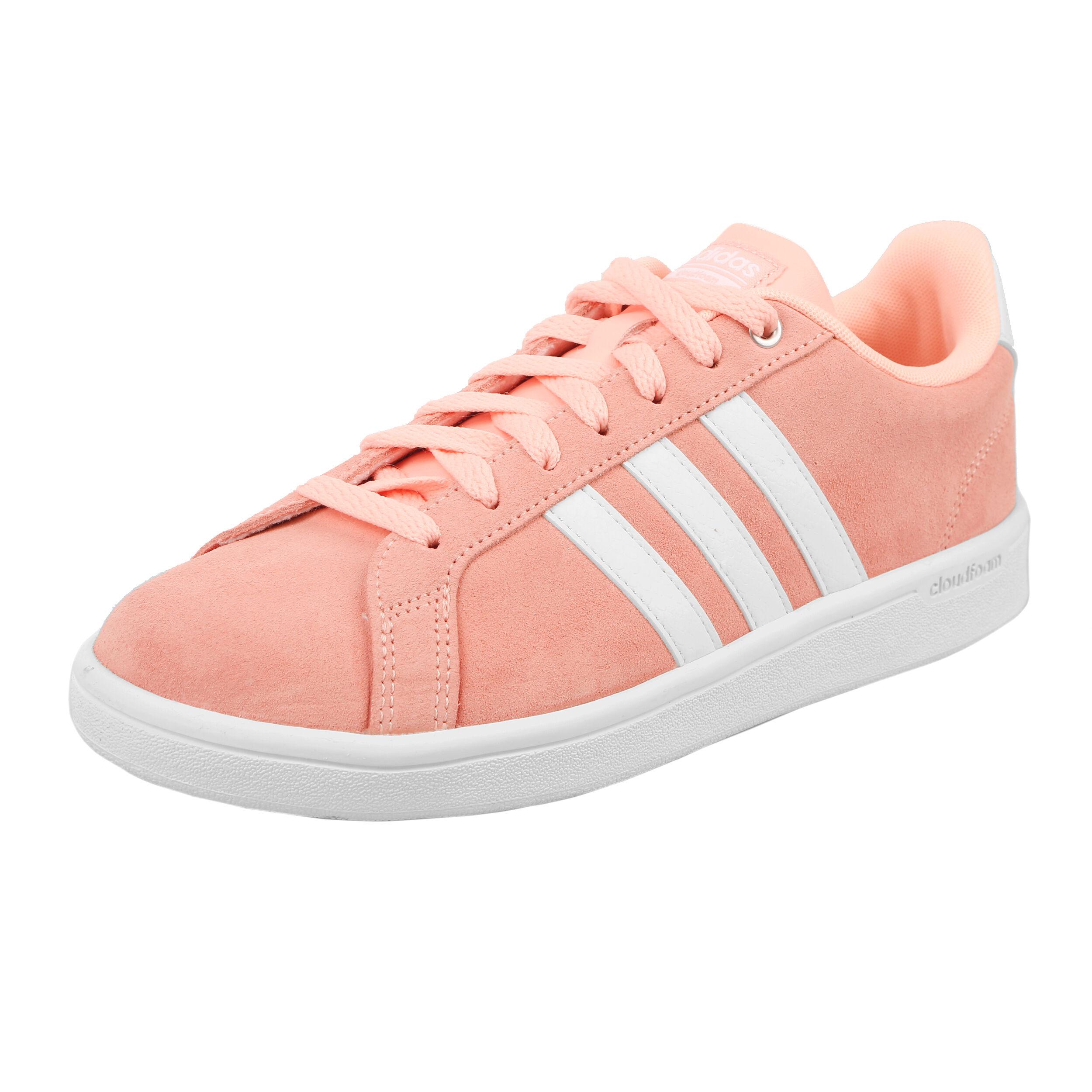 ADIDAS DAMEN COUDFOAM Advantage Clean Weiß Sneaker US 8 Wie