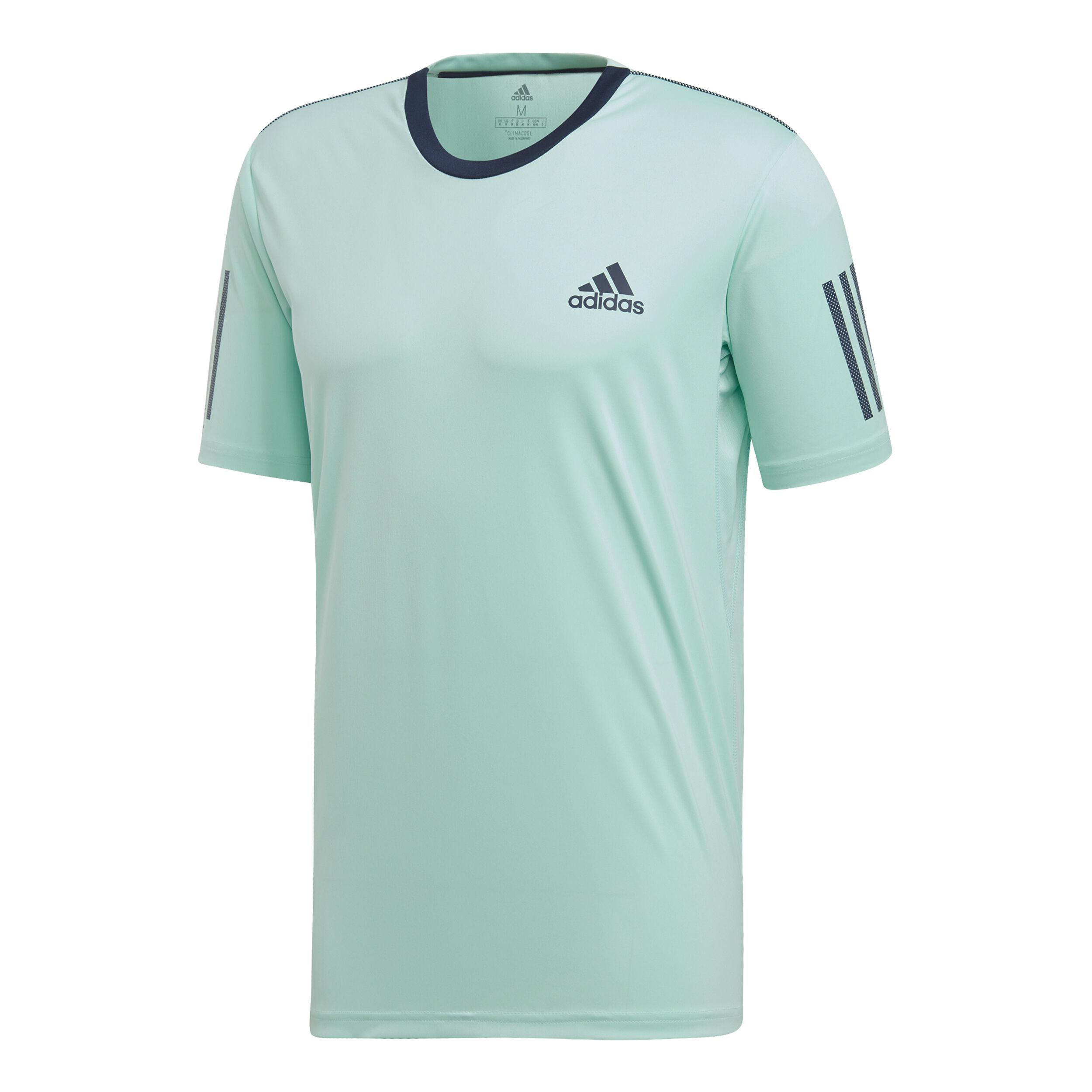 adidas Club 3 Stripes T Shirt Herren Mint, Dunkelblau