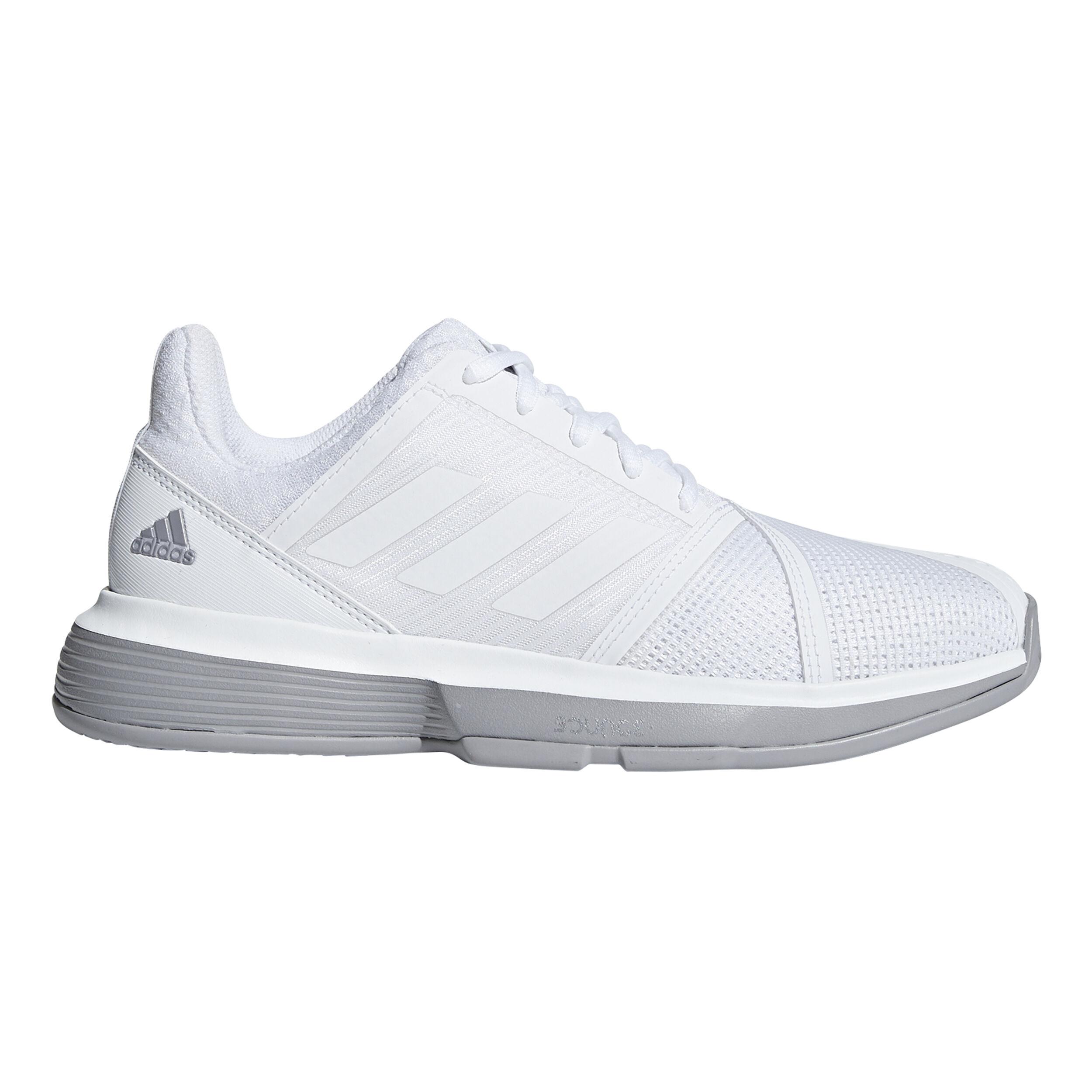 adidas Court Jam Bounce Allcourtschuh Damen - Weiß, Grau ...