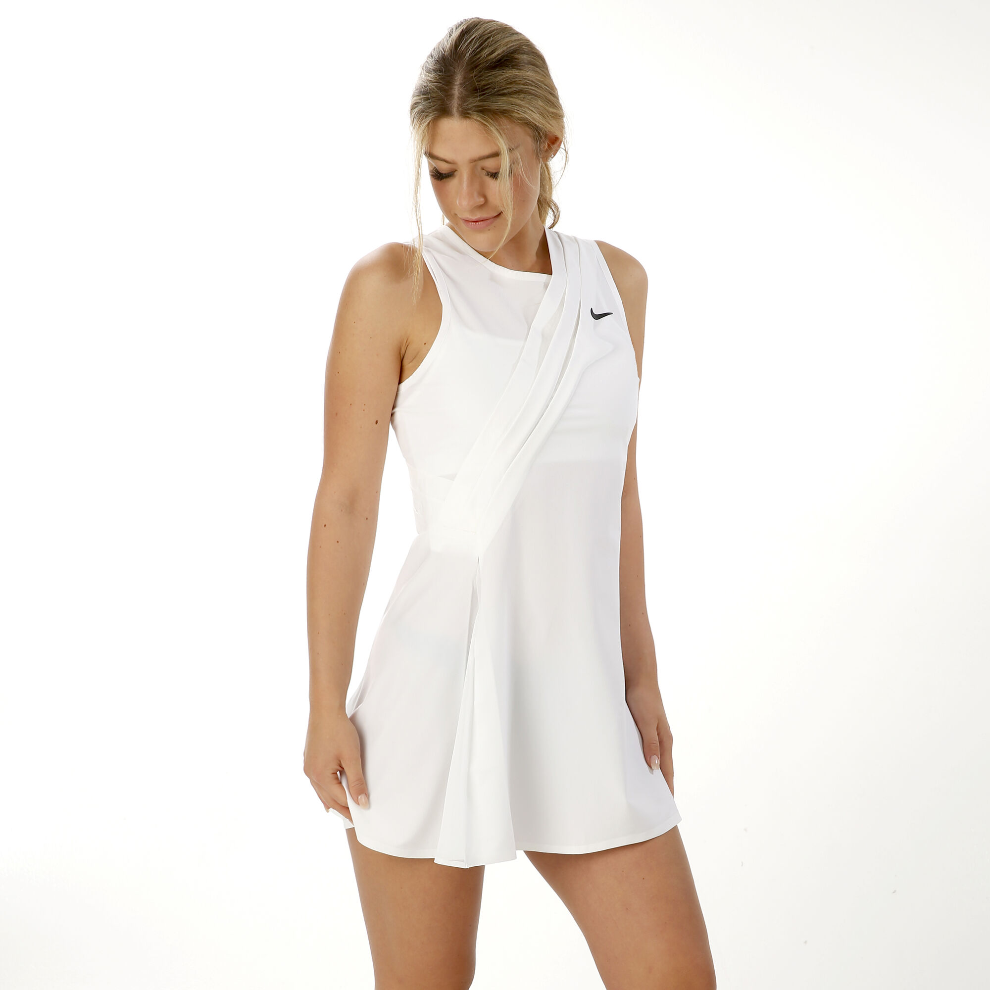 Nike Maria Sharapova Kleid Damen Weiss Schwarz Online Kaufen Tennis Point