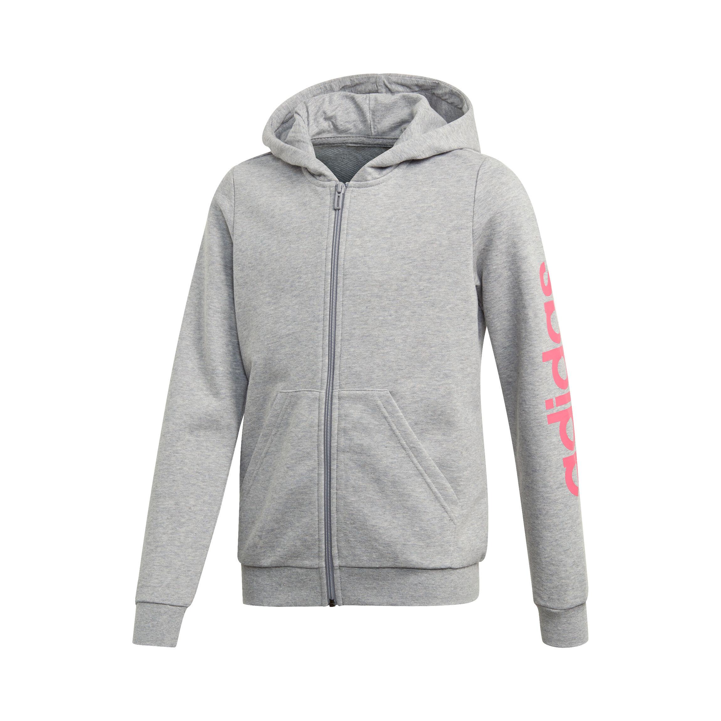 Mädchen Hoodie adidas Essentials Linear Full Zip Pink