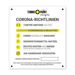 Corona-Aushang 80x90cm geöst