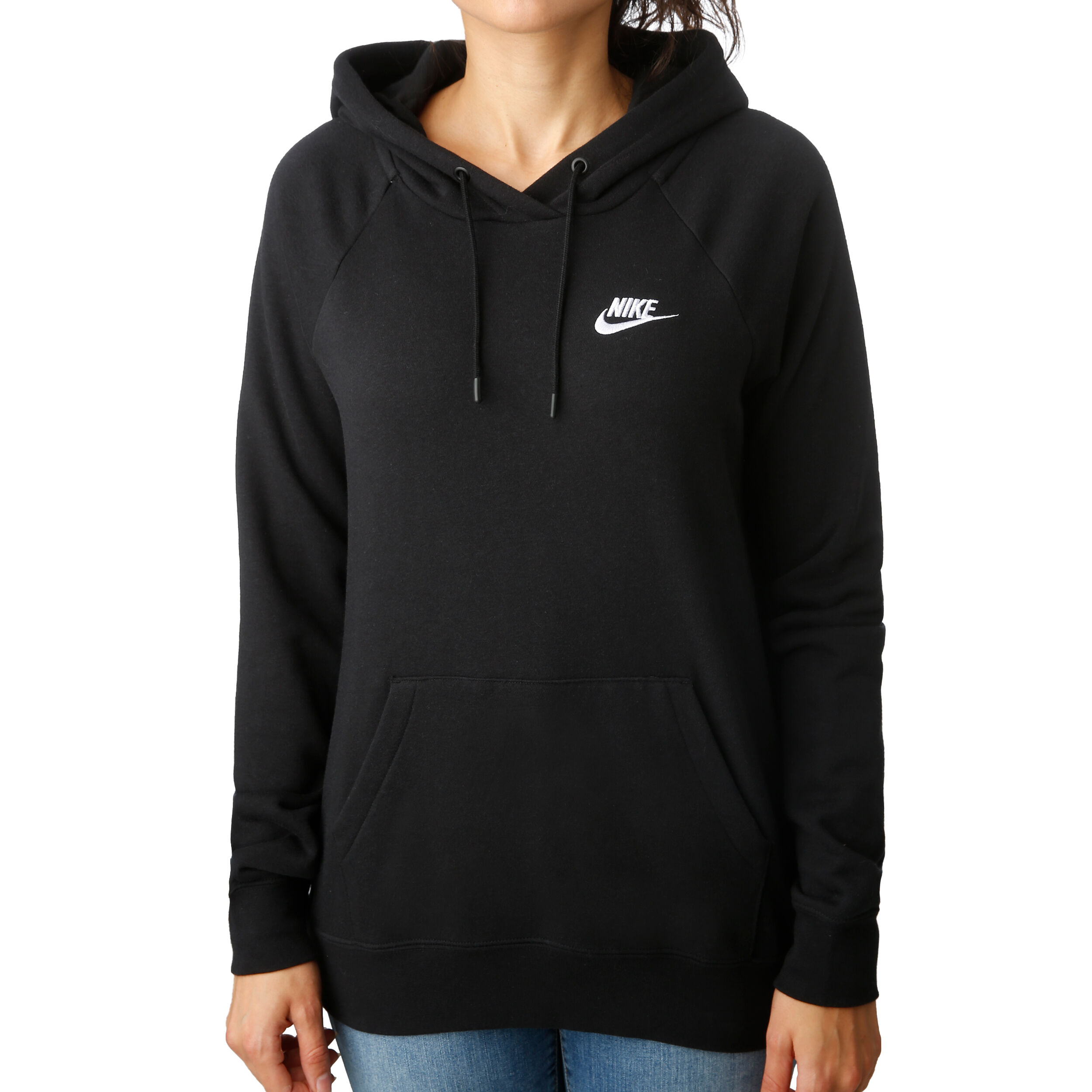 Nike Sportswear Essential Hoody Damen Schwarz, Weiß online