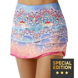 Long Illusion Scallop Skirt