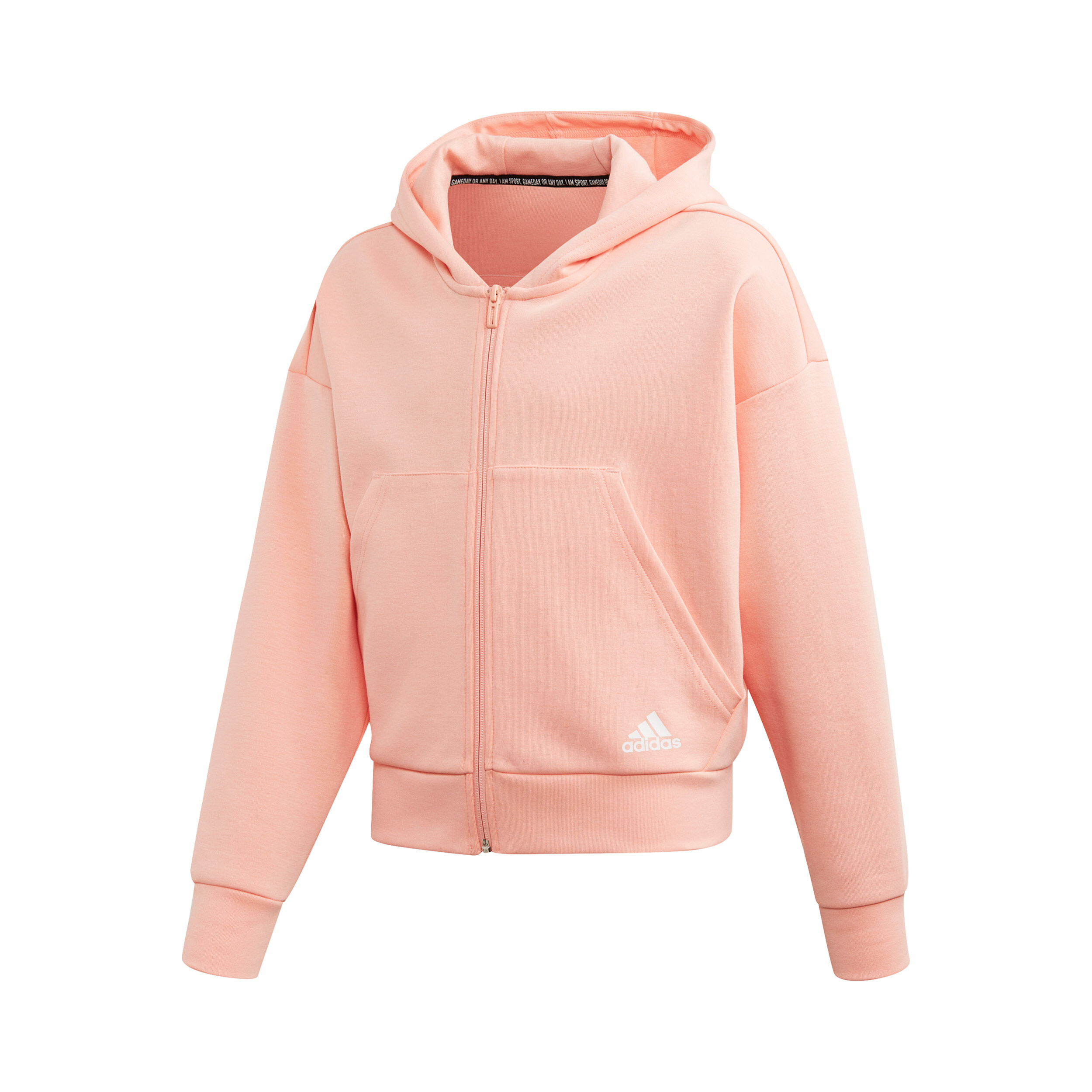 Must Haves Doubleknit 3 Stripes Full Zip Sweatjacke Mädchen Apricot,