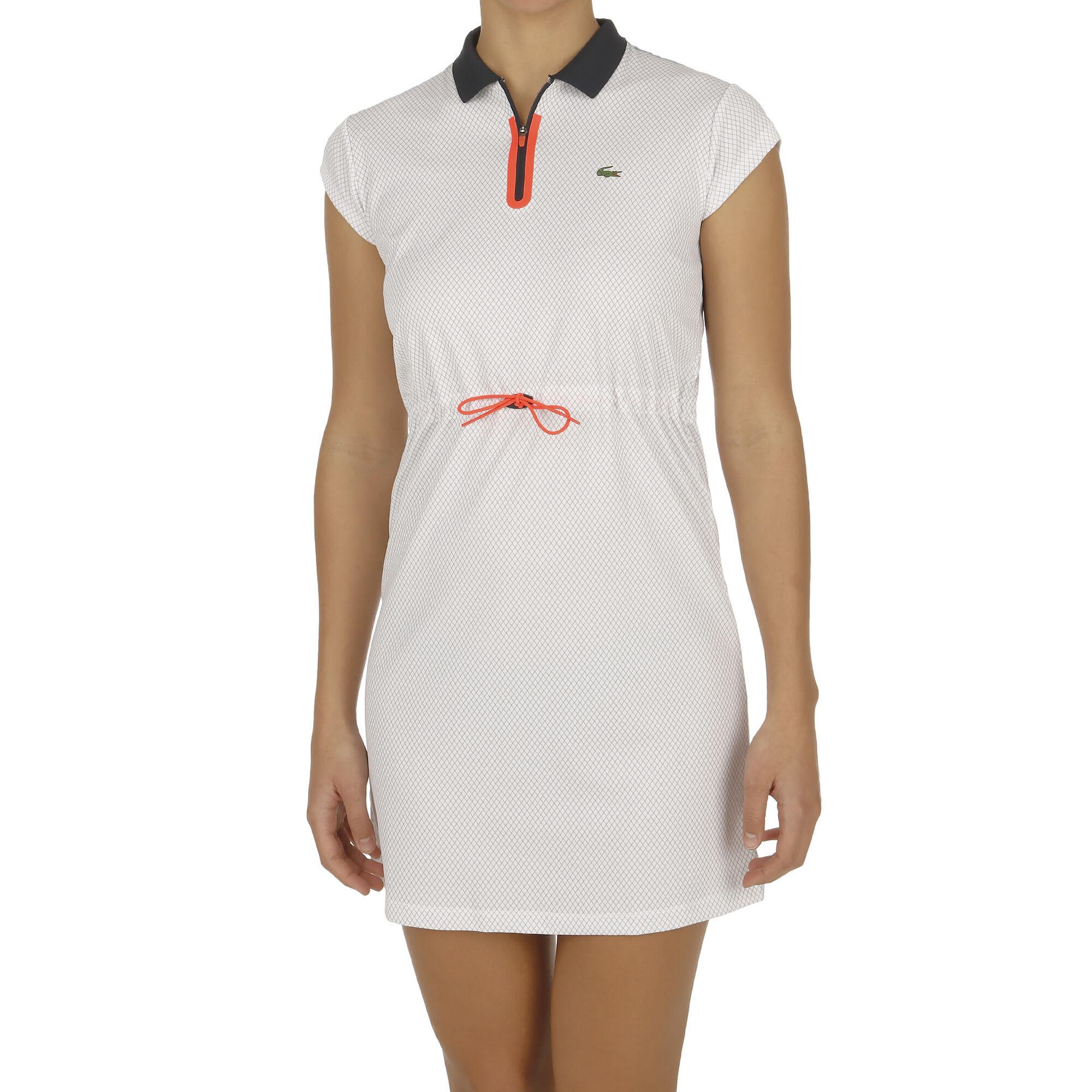 Lacoste Kleid Damen - Weiß, Dunkelblau online kaufen ...