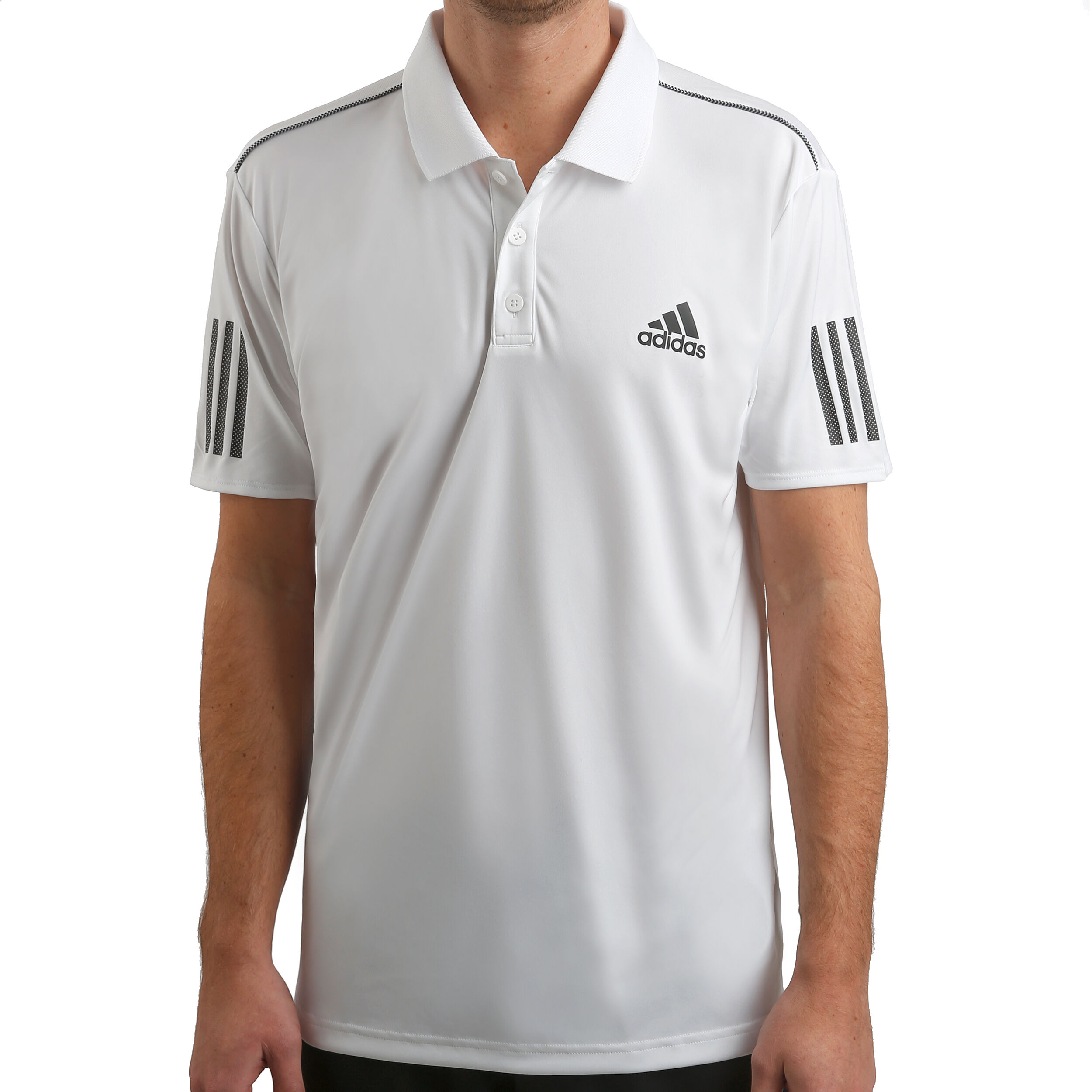 adidas Herren Club 3 Stripes Kurzarm Polo Shirt