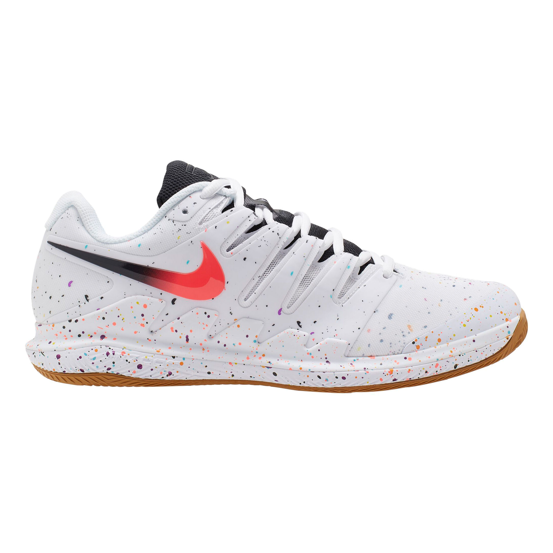 AO Nike Athletes Air Zoom Vapor X Sandplatzschuh Herren Weiß, Schwar