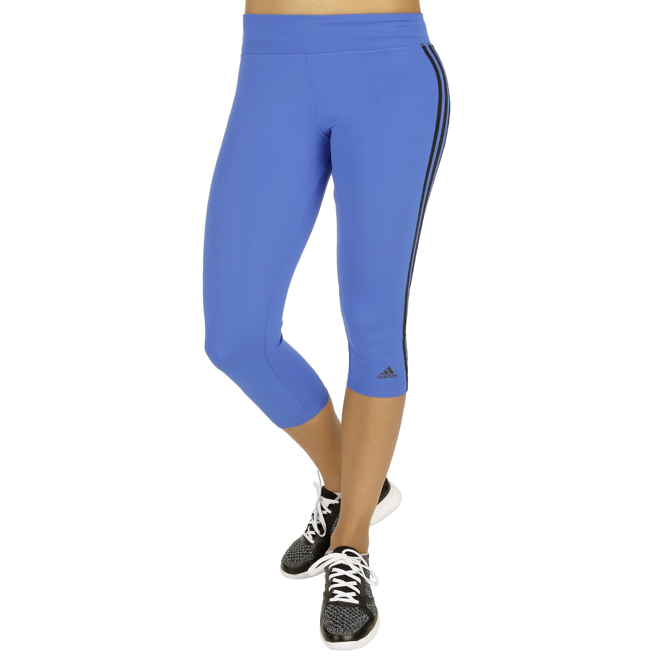 adidas D2M 3S 34 Capri Hose Damen Blau, Schwarz online