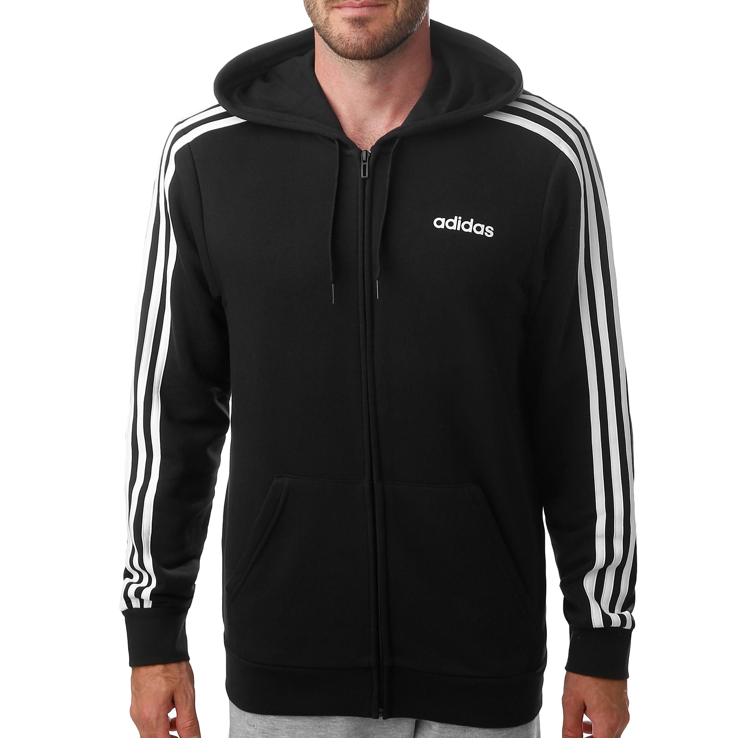 Adidas Herren Kapuzen Jacke Essentials 3 Stripes Full Zip NEU