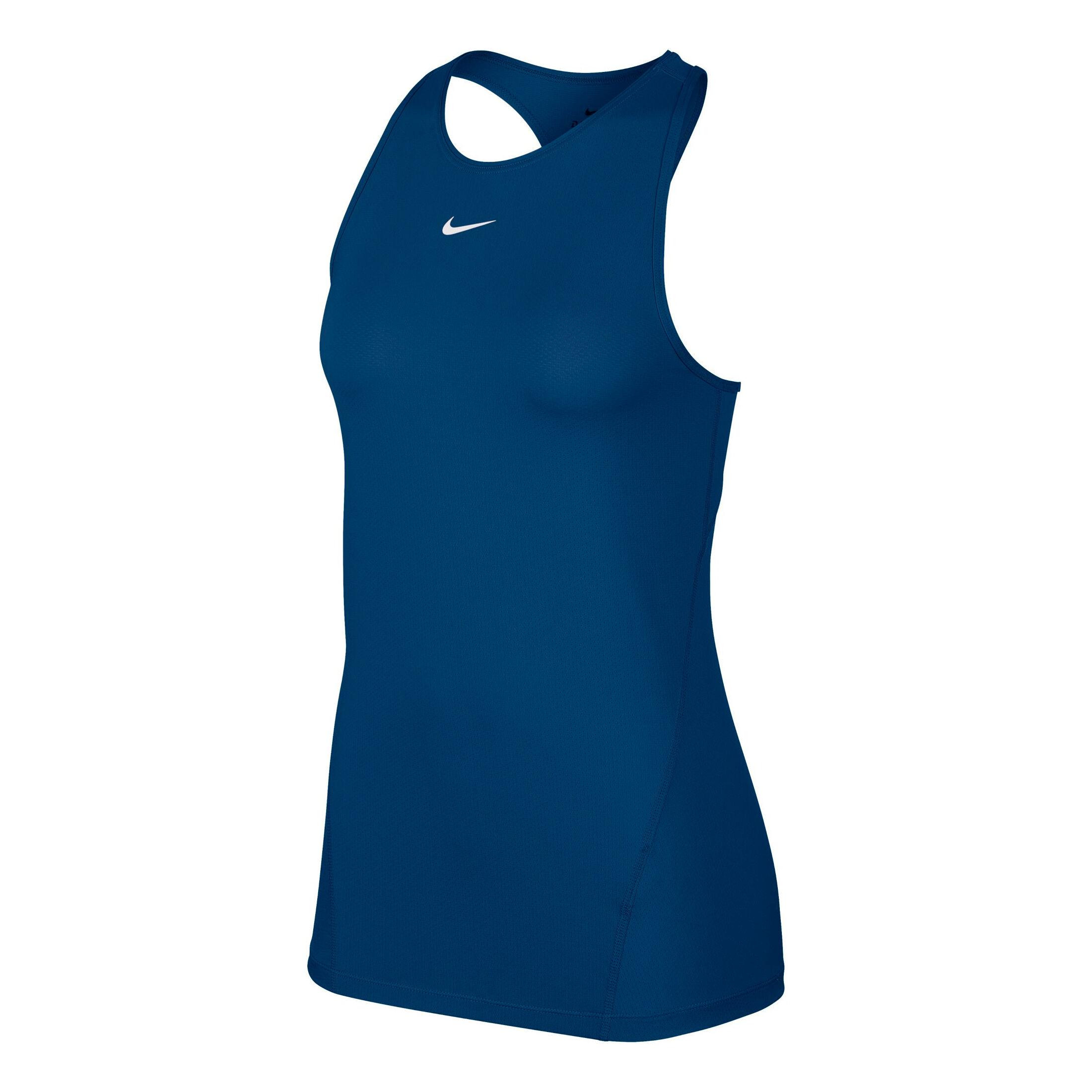 Nike Pro Tank Top Damen Petrol, Weiß