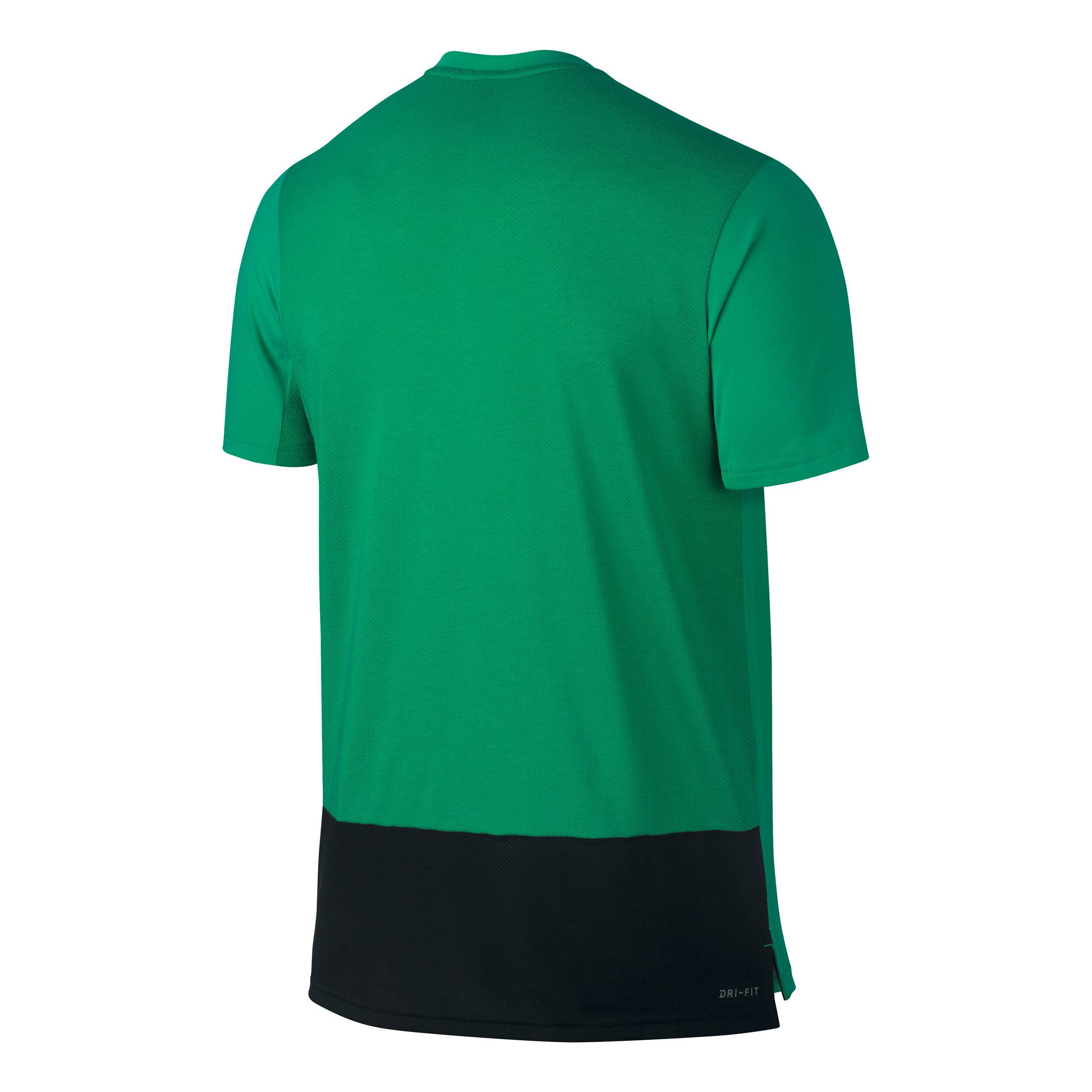 Nike Court Dry Baseline T Shirt Herren Neongrün, Schwarz