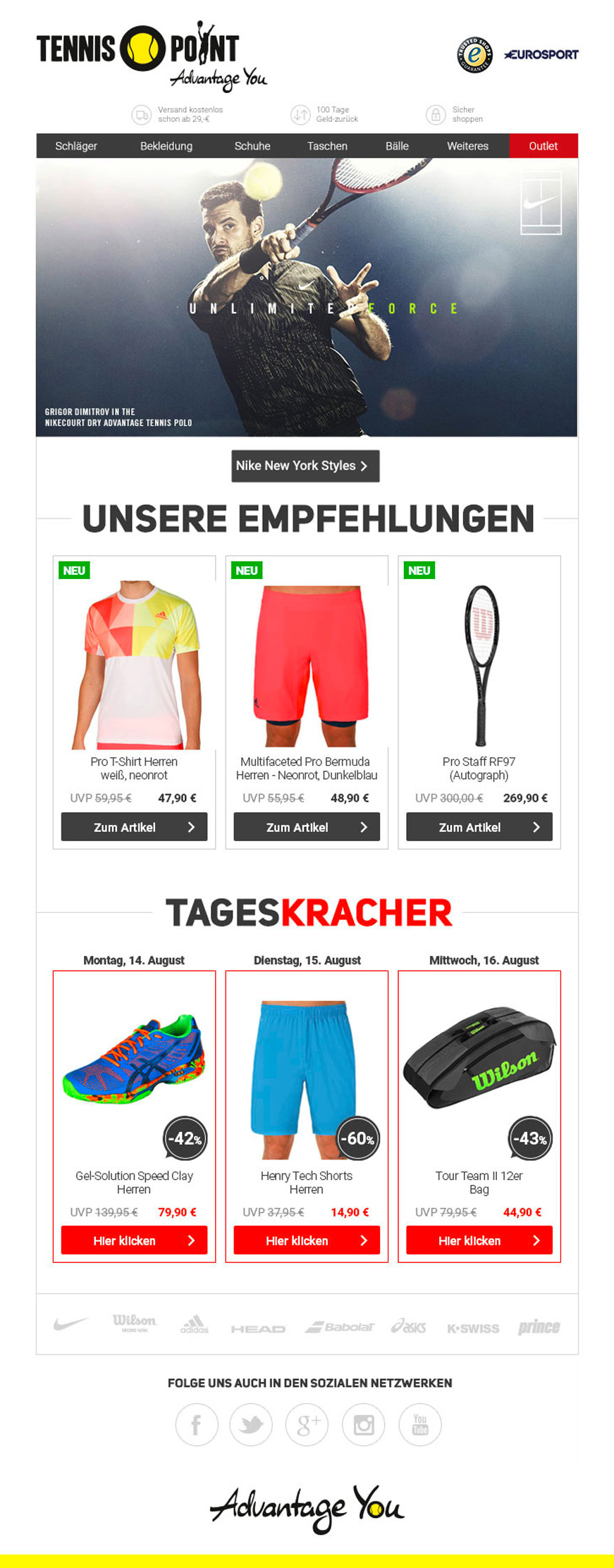 Tennis-Point Newsletter